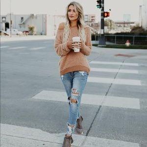 VICI Cozy Soft Sweater- OFF WHITE